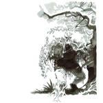 Inktober. Swamp Thing