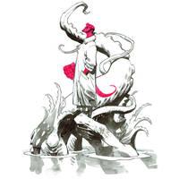 Inktober. Hellboy by nelsondaniel