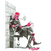 Inktober. Red Skull