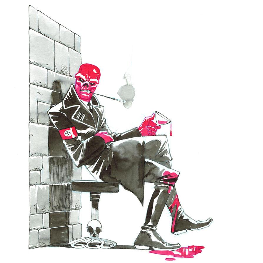 Inktober. Red Skull by nelsondaniel