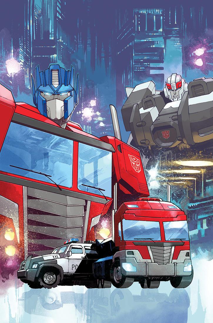 Optimus Prime #4 Cover by nelsondaniel