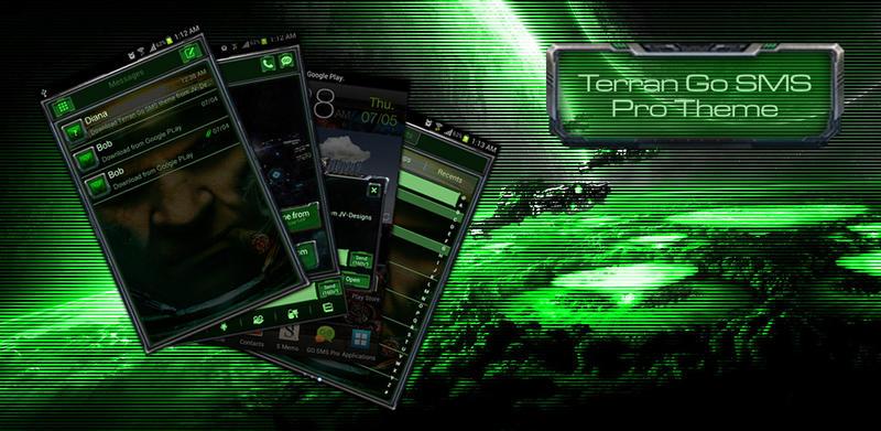 Starcraft Terran Go SMS Pro Theme by Jekmyster