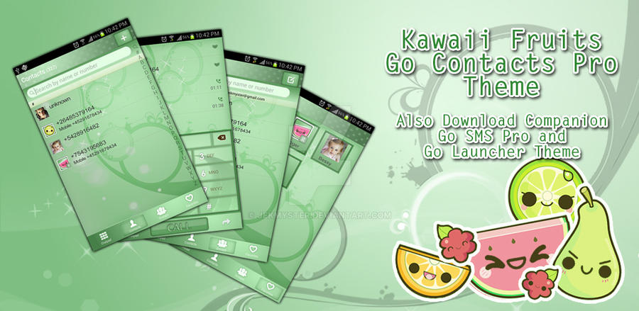 Kawaii Fruits Go Contacts Pro Theme by Jekmyster