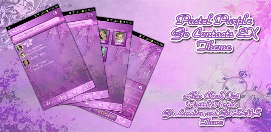 Pastel Purple Go Contacts Pro Theme by Jekmyster