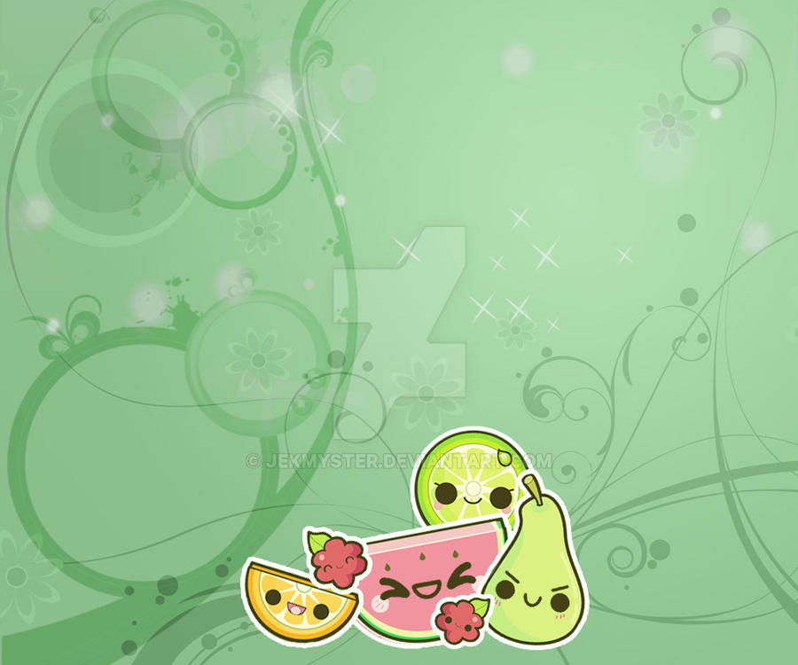 Kawaii Fruits Wallpaper 2 by Jekmyster