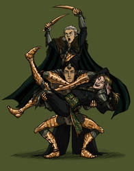 The Evanuris Squad by Domnorian