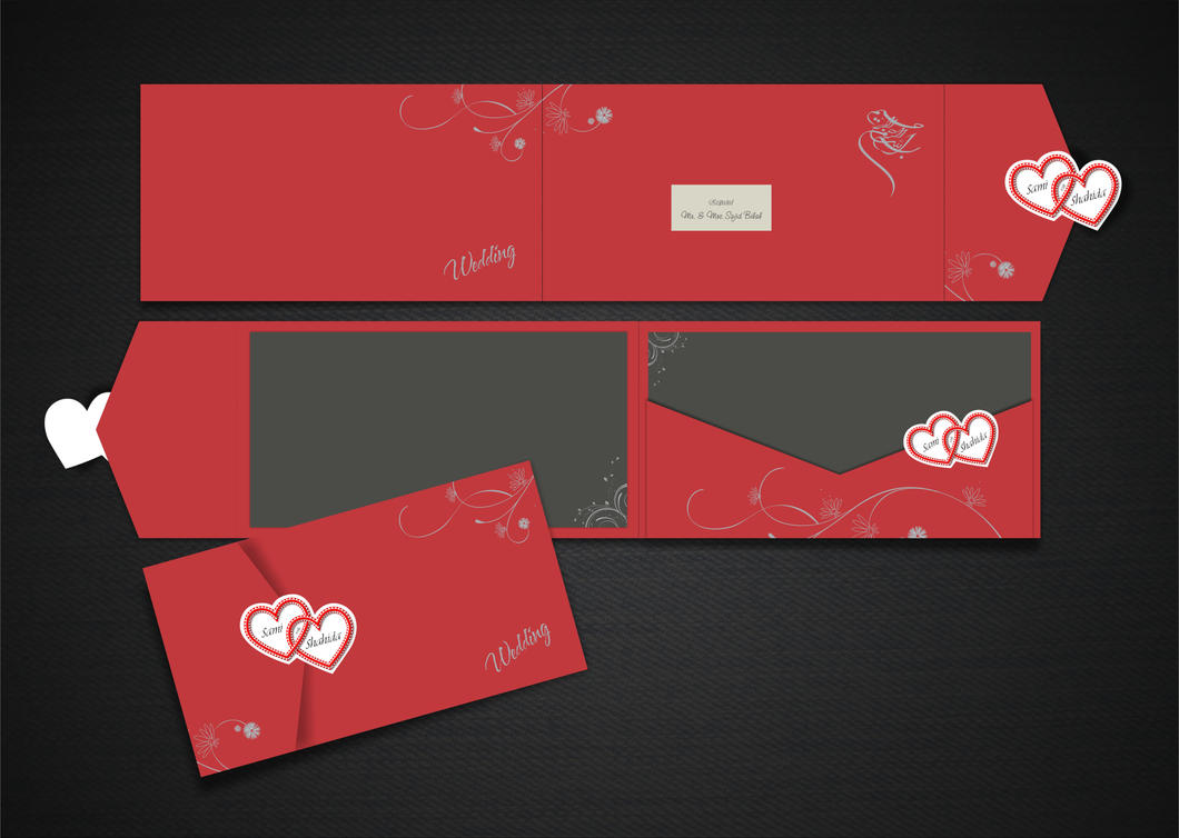 wedding card design by sajidbilal on deviantart