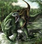 Deinonychus and Tenontosaurus