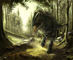 Acrocanthosaurus by SkyTides