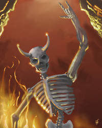 Rocking Skelly by Otter87