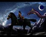 Loki and Cora at the Dragon Hunt
