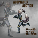 {OPEN}AUCTION/ADOPTABLE_AnthroHammerGirl by Dissunder