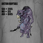 {Closed}AUCTION/ADOPTABLE_NightRat by Dissunder