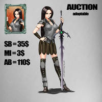 {OPEN} AUCTION Adoptable Swordsgirl2 by Dissunder