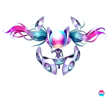 Dj Sona -League of Legends- :Ethereal: -Chibi- by nixiescream