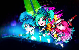 Arcade Girls -League of Legends- by nixiescream