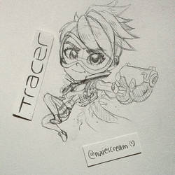 Tracer -WIP- Overwatch Chibi