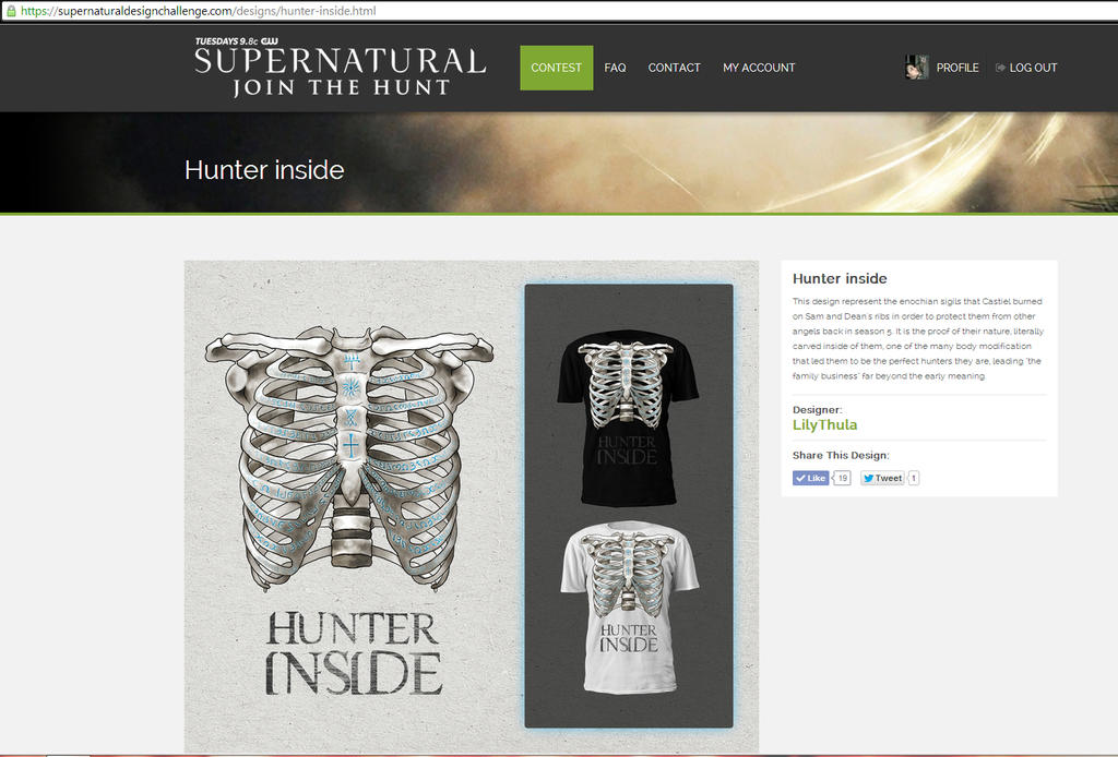 Supernatural t-shirt design contest by LilyThula on DeviantArt
