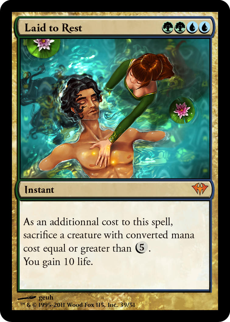 Laid to Rest - MTG fanmade card by geuh