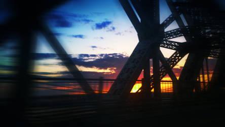 Sunset on Pont de Quebec