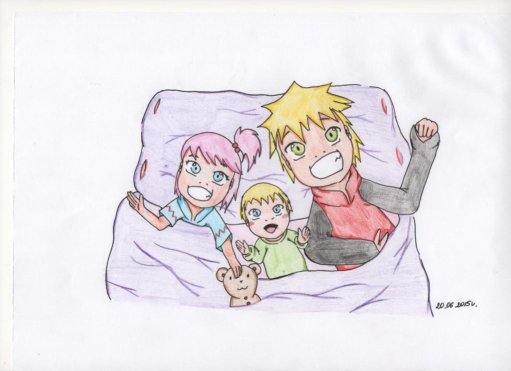 Oyasumi NaruSaku family :) by Miyumi15