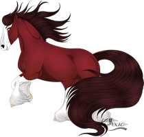 | Big Red Mare | by kythxia