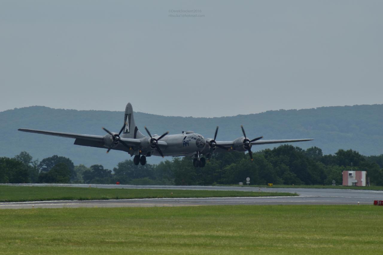 B-29 FIFI landing by Hero-Ritsuka