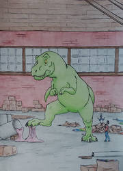 Dino in a Candy Factory