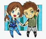 Cute Chibis part 2 : Chris and Jill