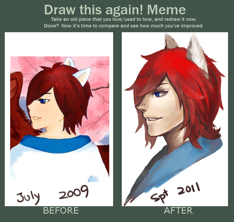 Redraw meme by cyrushisa on deviantart for Draw this again meme template