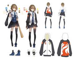 character design _ bww_SHIINA Akira by cyrusHisa