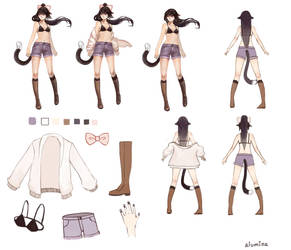 Commission - Alumina Character Sheet