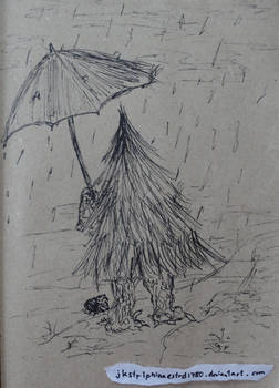 Some Trees Need Umbrellas Too, In The Rain.