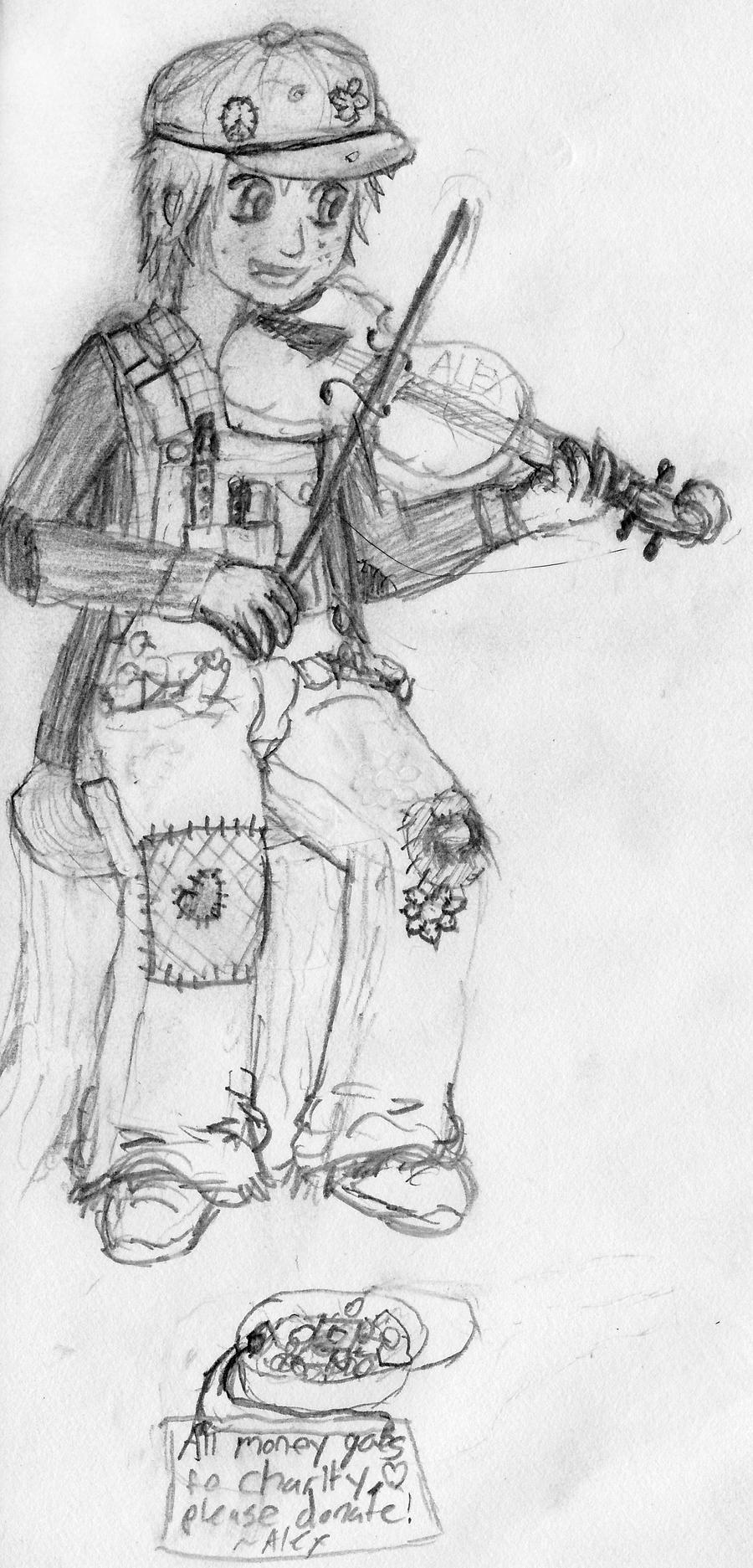 Fiddler girl by StefanPWinc