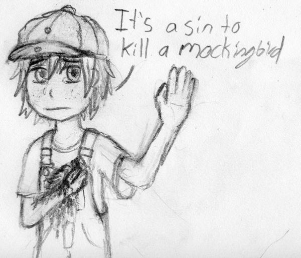 sin to kill a mockingbird by StefanPWinc on DeviantArt To Kill A Mockingbird Jem Drawing