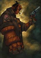 Smokey Hellboy by zaratus