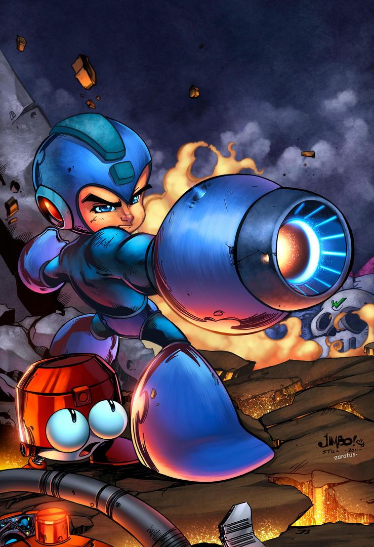 Megaman Tribute Piece by zaratus