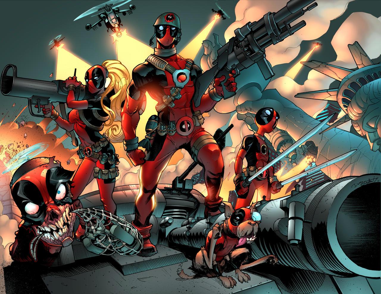 Deadpool family by zaratus on deviantart for Headpool