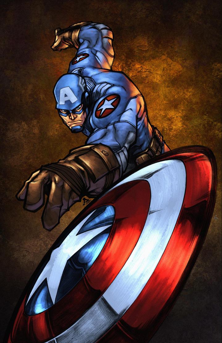 Captain America by zaratus