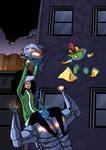 Rogue Vs Ultron By Kambadais-d6fadzy