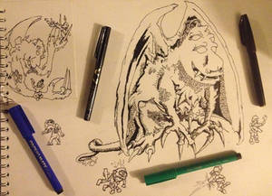 part 1 ink drawing