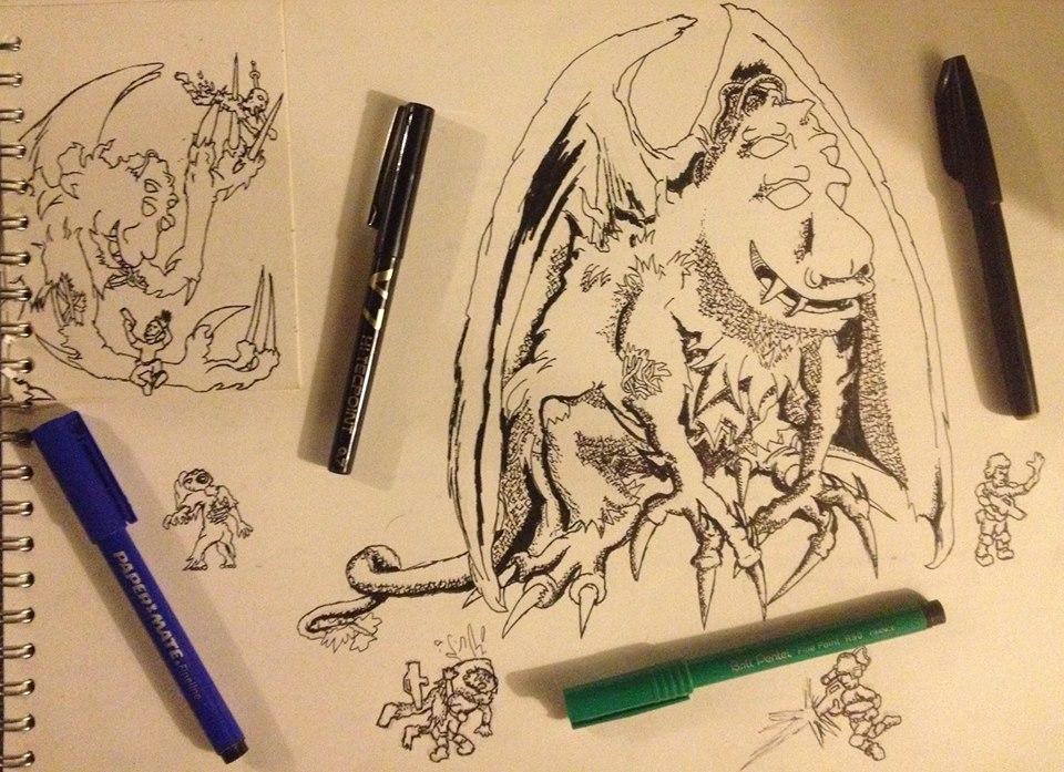 part 1 ink drawing by bangerbishop