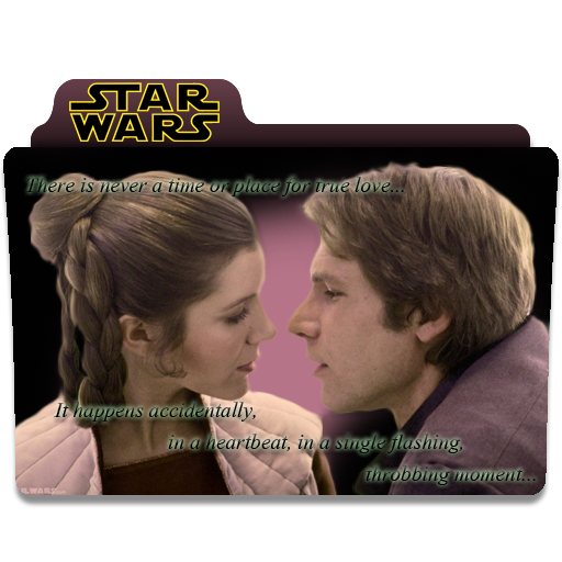 Star Wars Han and Leia Folder Icon by RainGirl2009