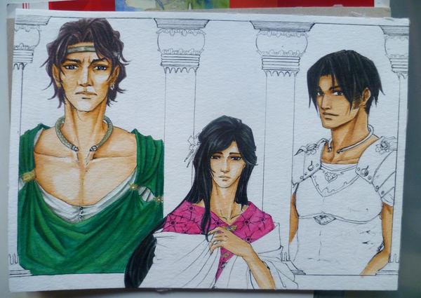 Three Men WIP3 by Ameyama