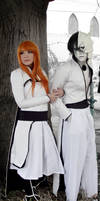 Orihime and Ulquiorra Bleach cosplay