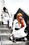 Orihime Inoue and Ulquiorra Cifer Cosplay