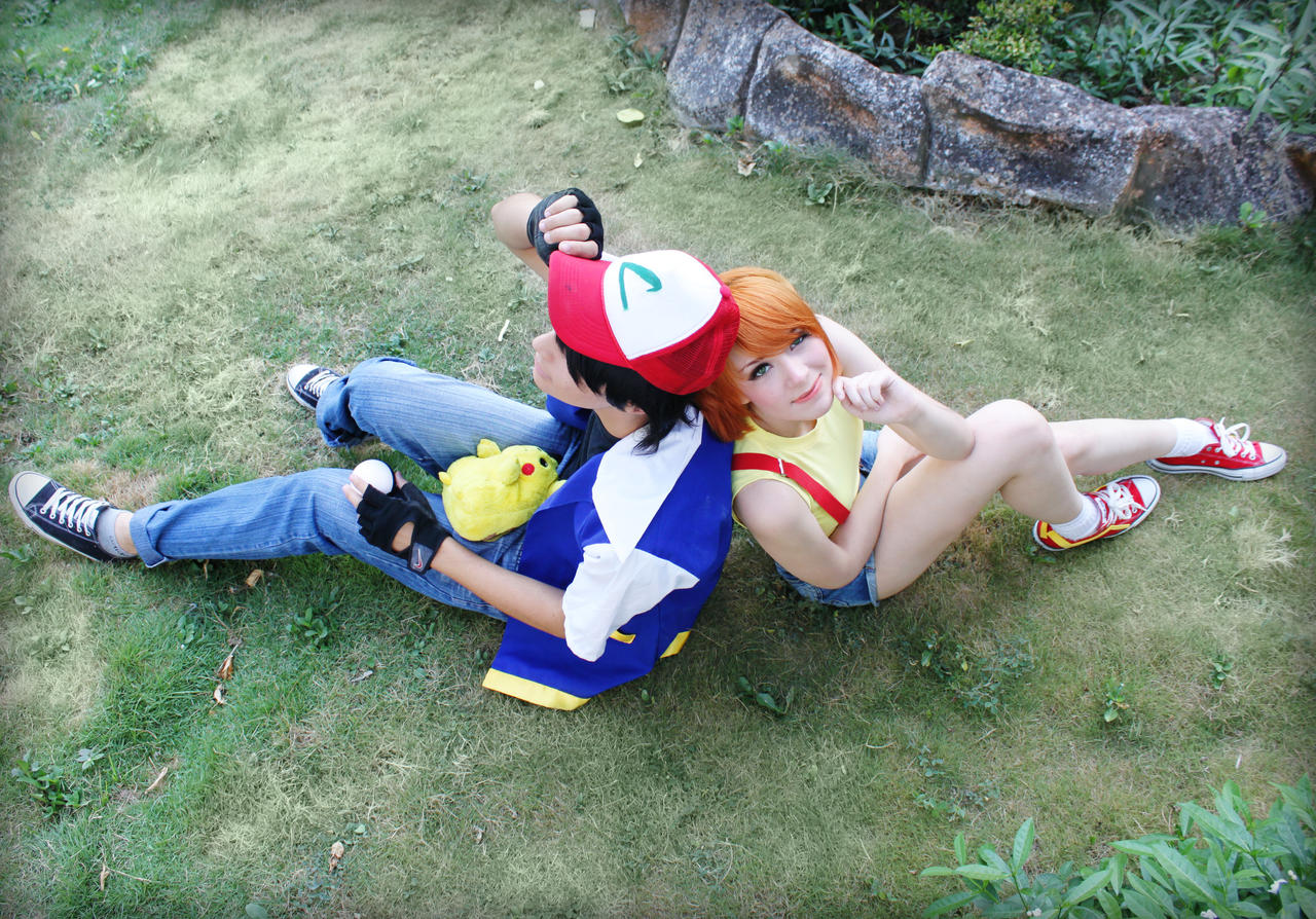 Pokemon trainers Ash Ketchum and Misty Cosplay by SailorMappy