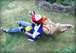 Pokemon trainers Ash Ketchum and Misty Cosplay