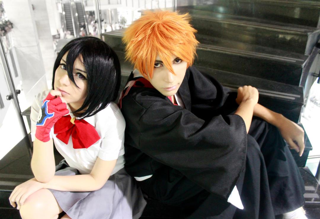 Kuchiki Rukia and Kurosaki Ichigo Cosplay - Bleach by SailorMappy