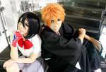 Kuchiki Rukia and Kurosaki Ichigo Cosplay - Bleach